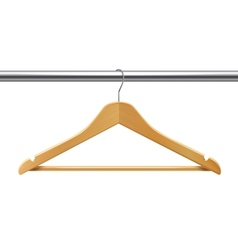 Clothes hanger on tube vector