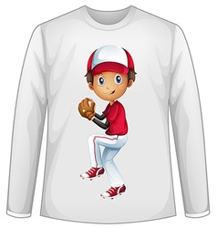 Baseball shirt vector