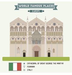 Cathedral Ferrara vector image
