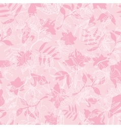 Exotic pink dawn florals seamless pattern vector
