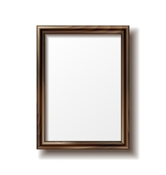 Wooden rectangular photo frame vector