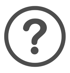 Question flat gray color rounded icon vector