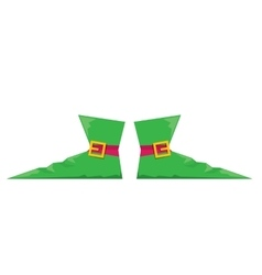 Christmas elf shoes vector