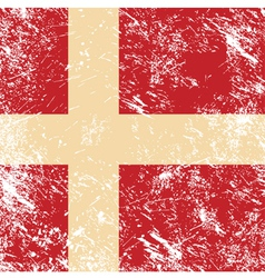 Denmark retro flag vector