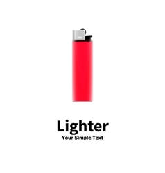 A red lighter vector