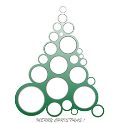 Abstract Christmas made of circles vector image