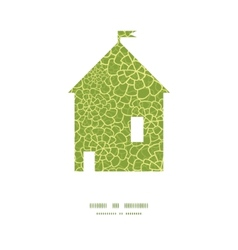 abstract green natural texture house vector image vector image