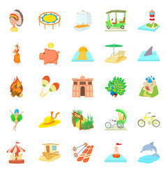 Attempt icons set cartoon style vector