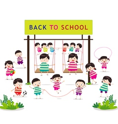 back to school funny playing vector image vector image