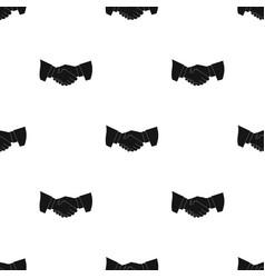 handshakerealtor single icon in black style vector image vector image
