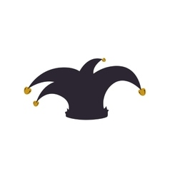 Hat arlequin carnival celebration icon vector