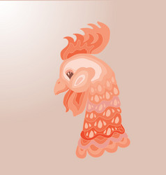 Head of cartoon rooster isolated vector