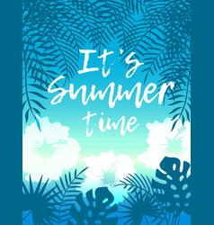 hello summer beach party flyer design eps vector image