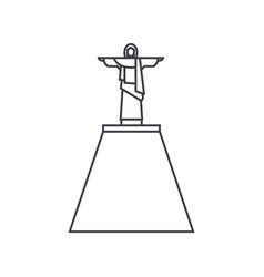 jesus statue line icon sign vector image