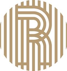letter line r alphabet design vector image vector image
