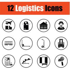 Logistics icon set vector