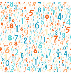 Mathematics background - different numbers pattern vector