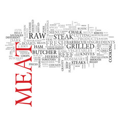 meat word cloud concept vector image
