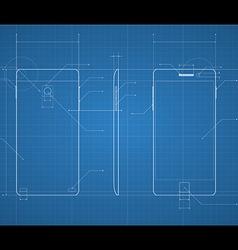 Mobile blueprint vector