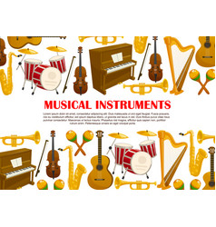 music poster of musical instruments vector image vector image