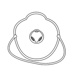 Outline medical mask vector image vector image