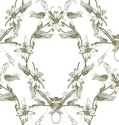Passiflora frame pattern4 vector image vector image