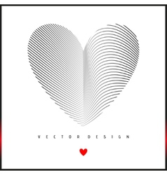 Pattern with Heart on Center vector image