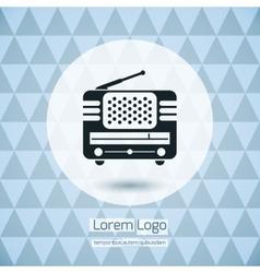 Radio icon logo vector