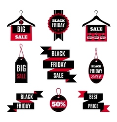 Set of Black Friday sale icons vector image