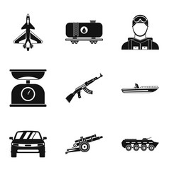 Struggle icons set simple style vector