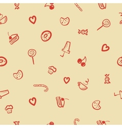 sweets icons seamless pattern vector image vector image