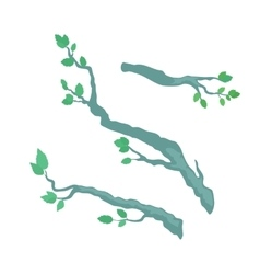 Tree brunches flat design template vector