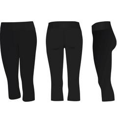 women three quarter pants vector image vector image