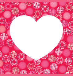 White heart and colorful swirls background vector