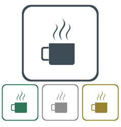 Camping cup icon vector