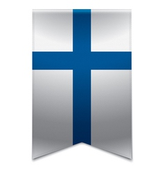 Ribbon banner - finnish flag vector