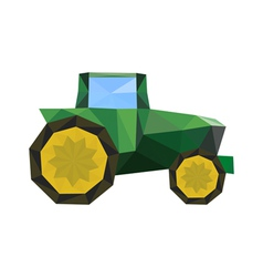 Abstract origami tractor vector