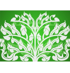 Art pattern on a green background vector