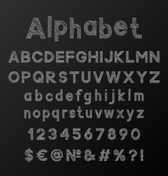 Decorative chalk alphabet vector