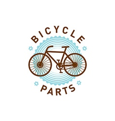 Bicycle logo vector