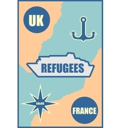 Refugees relative theme image vector