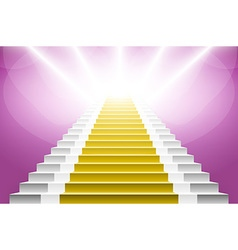 Staircase with orange carpet carpet stairs vector