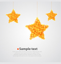 Abstract bright yellow star background vector