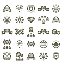 Bank and money theme unusual icons set financial vector image vector image