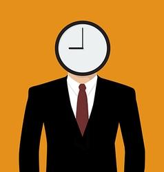 Businessman his head is a clock vector image vector image