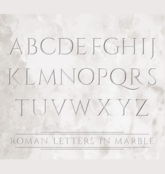 chiseled letters in marble vector image vector image