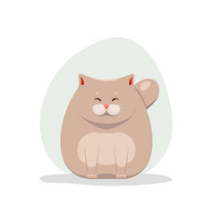 cute happy fatty cat vector image