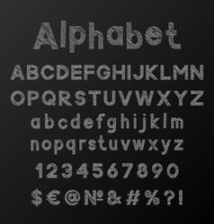 Decorative chalk alphabet vector image