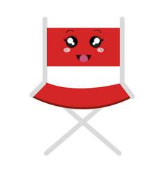 Director chair kawaii character vector