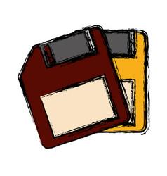 Diskettes icon image vector